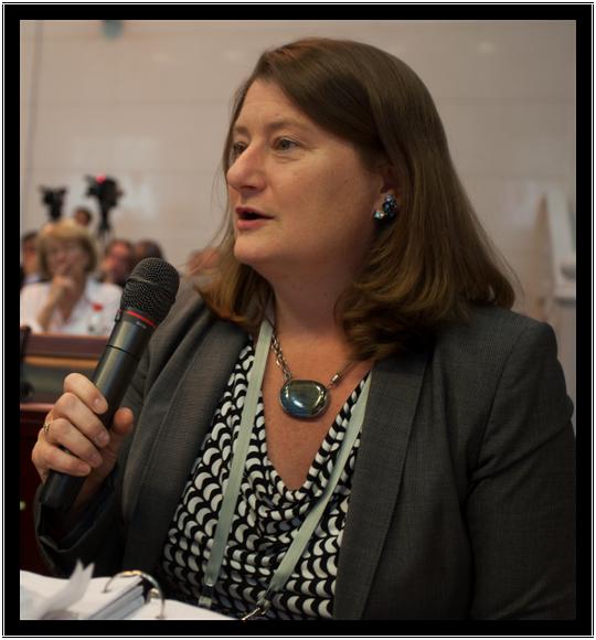 Phó Trợ lý Ngoại trưởng Mỹ phụ trách các Tổ chức quốc tế Victoria Holt. Ảnh: Challenges Forum