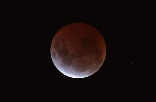 The lunar eclipse seen from Melbourne, Australia on April 4, 2015.