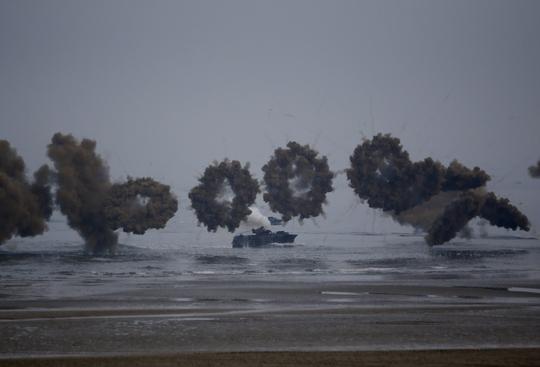 Hình ảnh một cuộc tập trận của Hàn Quốc ở Taean. Ảnh: Reuters