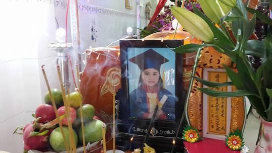 Di ảnh của bé Phước Hải - nữ sinh tử vong sau khi bị cô giáo đánh. Ảnh: Facebook người nhà nạn nhân