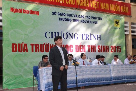 Nhà giáo Ưu tú, TS Phạm Văn Cường, Giám đốc Sở GD-ĐT Phú Yên phát biểu