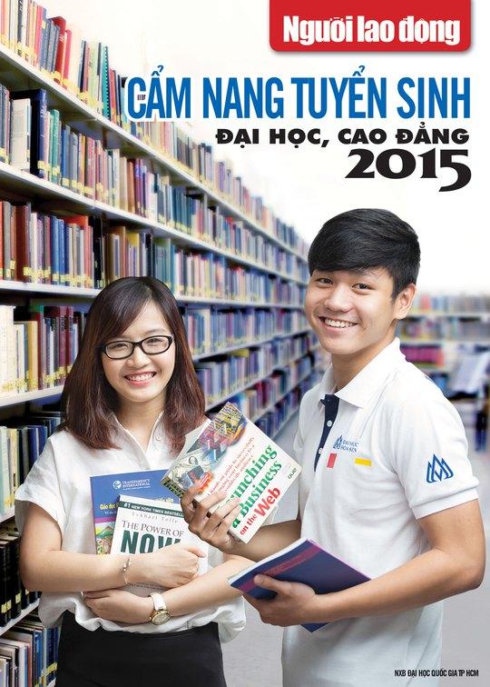 Trang bìa Cẩm nang tuyển sinh đại học, cao đẳng 2015