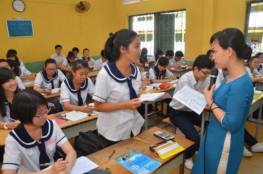 Một giờ học ở Trường THPT Hùng Vương, TP HCM. (Ảnh chỉ có tính minh họa) Ảnh: TẤN THẠNH