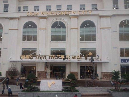 Trung tâm Thương mại Hòa Bình Green City trước ngày khai trương Ảnh: NGUYỄN HƯỞNG