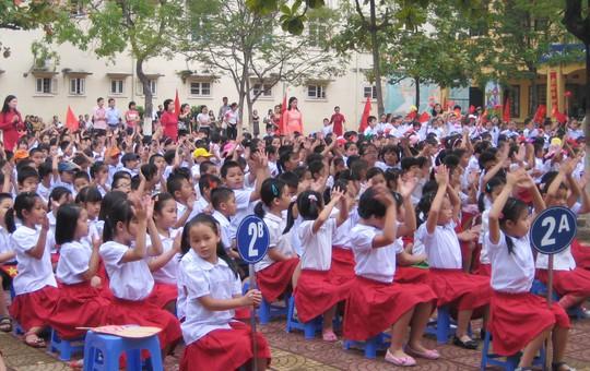 Học sinh của một trường tiểu học tại Hà Nội Ảnh: YẾN ANH