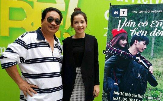 Đạo diễn Võ Việt Hùng và Chi Pu trong buổi ra mắt phim