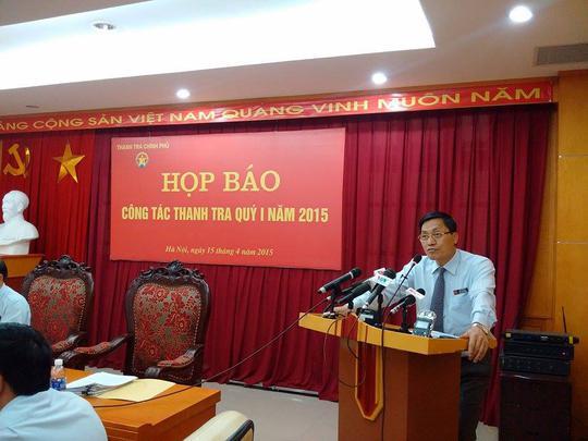 Ông Ngô Văn Khánh- Phó Tổng TTCP tại buổi họp báo