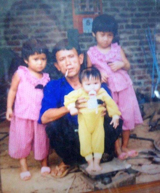 Ông Chuốt cùng 4 đứa con đang ở Tây Ninh