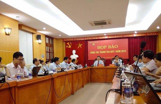 Buổi họp báo thường kỳ của Thanh tra CP công bố nhiều nội dung quan trọng