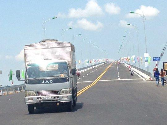 Cầu Cổ Chiên khánh thành và thông xe vào sáng nay 16-5