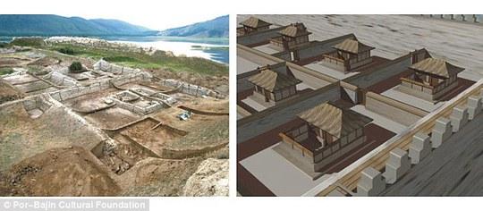 Por-Bajin (ngôi nhà đất sét) được cho là do người Duy Ngô Nhĩ xây dựng. Ảnh: