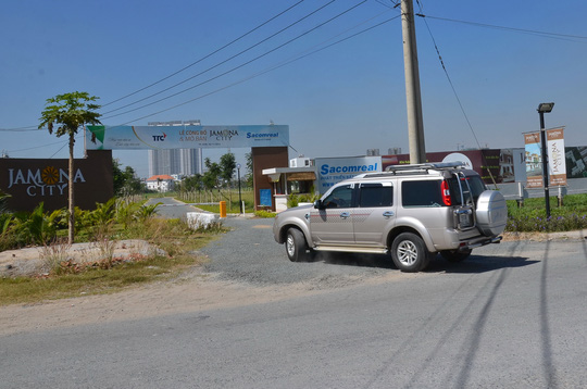 Dự án đất nền Jamona City ở quận 7, TP HCM đang được chào bán Ảnh: TẤN THẠNH