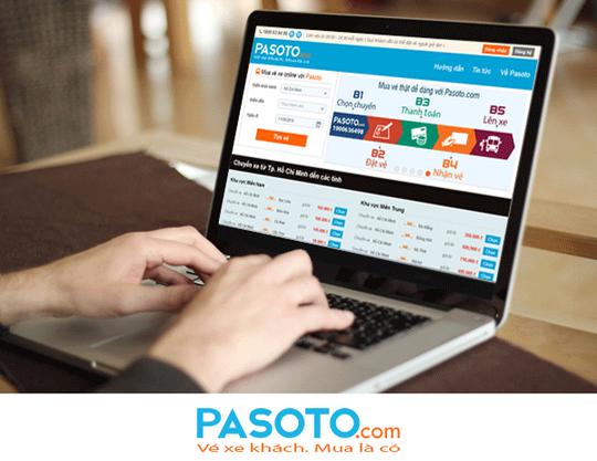 Mua vé xe khách qua mạng pasoto.com
