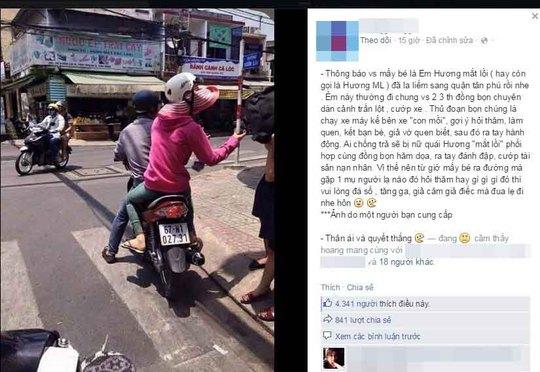 """Bức ảnh dựng chuyện Hương """"mắt lồi"""" tái xuất được lan truyền trên mạng xã hội Ảnh: FP NHÂN VẬT"""