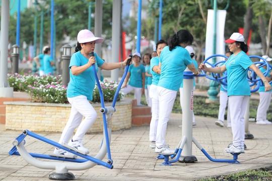 Tập thể dục với cường độ thích hợp là một trong những biện pháp giúp trái tim khỏe Ảnh: Hoàng Triều