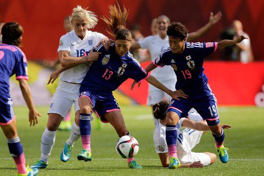 Thua kém về chiều cao, cân nặng nhưng các cầu thủ nữ Nhật Bản vẫn đủ lực và kỹ thuật để trở lại trận chung kết  Ảnh: REUTERS