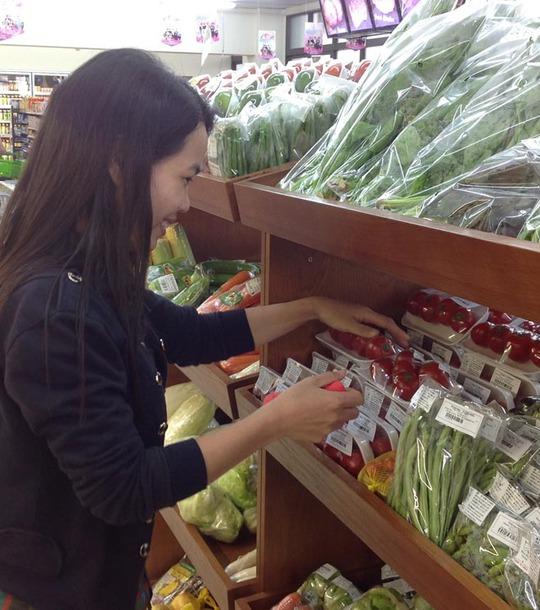 Một cửa hàng rau sạch ở TP HCM