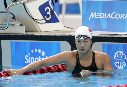 Ánh Viên tham dự với mục tiêu lọt vào đợt bơi chung kết các cự ly sở trường Ảnh: REUTERS