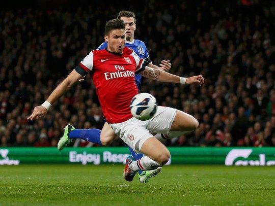 Giroud là niềm hy vọng số 1 của Arsenal trong trận chung kết Cúp FA vào đêm 30-5 Ảnh: REUTERS