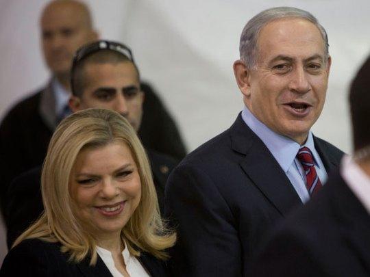 Vợ chồng Thủ tướng Israel Benjamin Netanyahu  Ảnh: AP