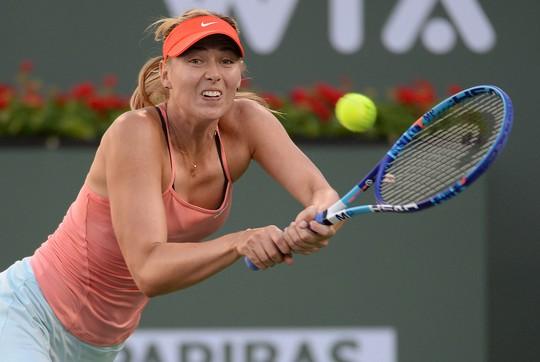 Sharapova vất vả ở ván hai trong chiến thắng trước Wickmayer Ảnh: REUTERS