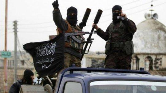 Phiến quân Al-Nusra thề trung thành với Al Qaeda. Ảnh: BBC