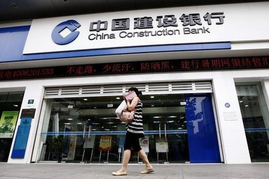 Chi nhánh Ngân hàng Xây dựng Trung Quốc (CCB) ở TP Thượng Hải Ảnh: Reuters