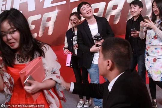 Wang Sicong tại sự kiện từ thiện ngày 14-2. Ảnh: CFP