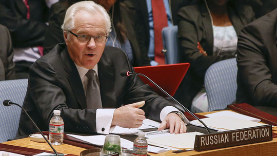 Đặc phái viên Nga tại LHQ, ông Vitaly Churkin. Ảnh: Reuters