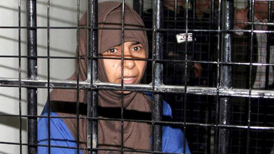Sajida al-Rishawi trong tù. Ảnh: EPA