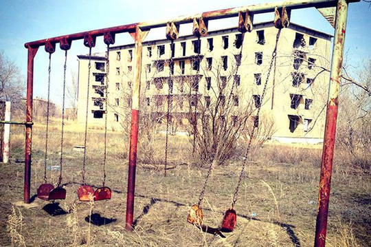 Chính quyền địa phương đang xem xét di dời toàn bộ cư dân làng Kalachi đến khu vực khác để tái định cư. Ảnh: Siberian Times