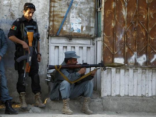 Cảnh sát Iraq tại thủ đô Kabul. Ảnh: Reuters
