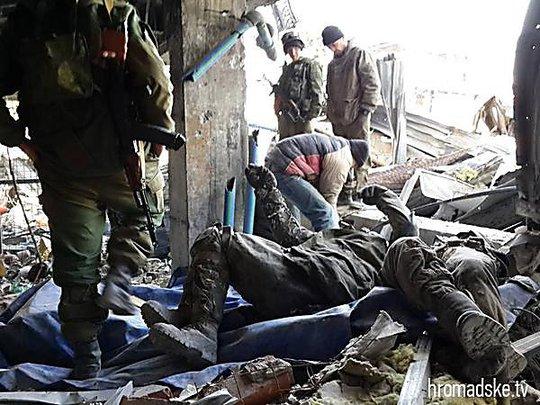 Ngôi làng Shirokino, gần thành phố cảng chiến lược Mariupol đang diễn ra các cuộc đấu tăng dữ dội. Ảnh: Hromadske.tv