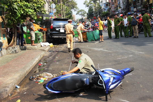 Hiện trường vụ tai nạn khiến 3 người nhập viện.