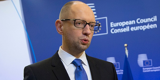 Thủ tướng Ukraine Arseniy Yatsenyuk đang dính cáo buộc tham nhũng. Ảnh: AP