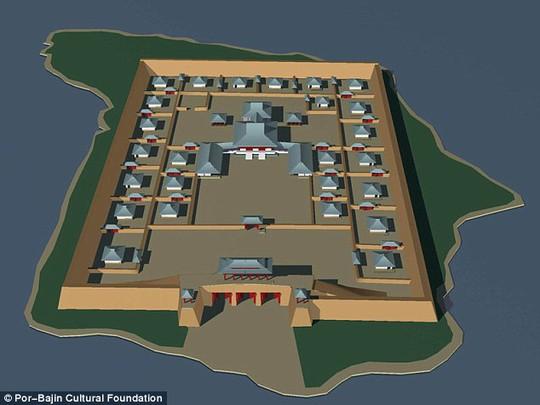 Mô hình 3D của hòn đảo trước khi nó bị tàn phá. Ảnh: Daily Mail