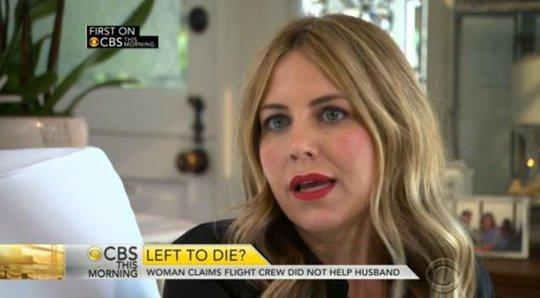 Cô Kelly Ilczyszyn đang kiện Southwest Airlines để đòi lại công bằng cho chồng mình. Ảnh: CBS News