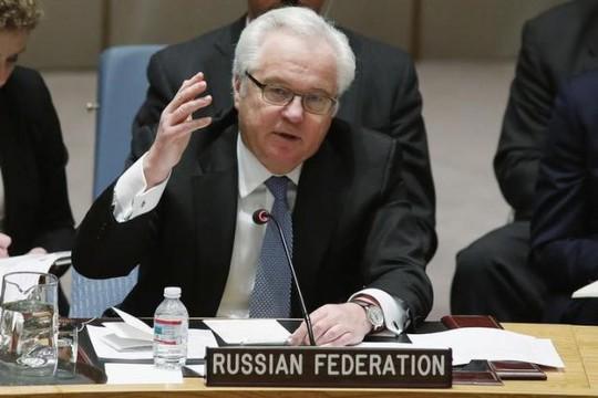 Đại sứ Nga tại LHQ Vitaly Churkin. Ảnh: Reuters