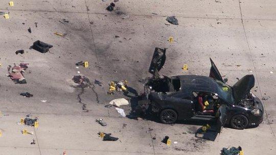 Chiếc xe được 2 tay súng sử dụng trong cuộc tấn công tại buổi triển lãm trưng bày hình ảnh của nhà tiên tri Muhammed. Ảnh: Reuters