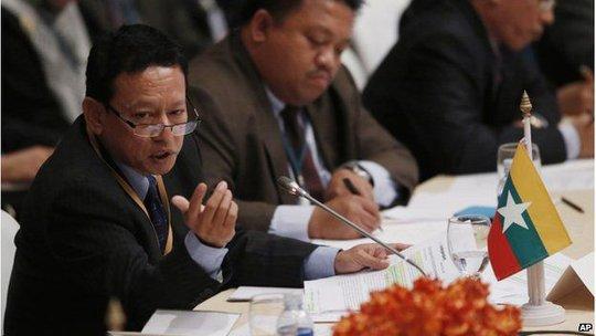 Trưởng Bộ phận Ngoại giao Myanmar, ông Htin Lynn. Ảnh: AP