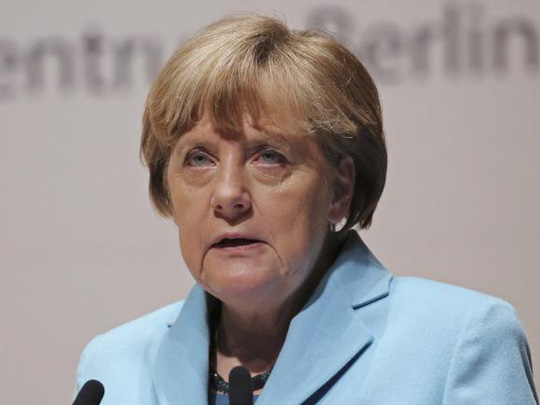 Thủ tướng Đức Angela Merkel quyết không bỏ trừng phat Nga cho đến khi thỏa thuận Minsk được thực thi đầy đủ. Ảnh: Reuters