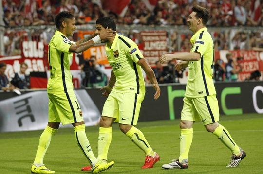 Bộ ba S-N-S đã tỏa sáng, góp phần đưa Barcelona vào chung kết Champions League