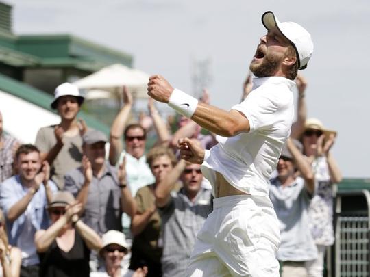 Tay vợt chủ nhà Broady phấn khích sau chiến thắng 5 ván