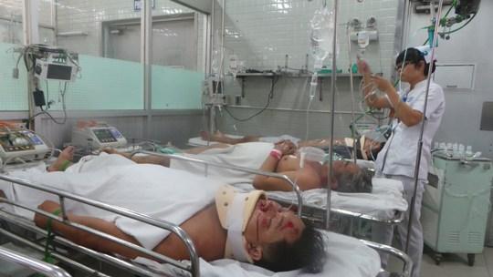 Bệnh nhân chấn thương sọ não diện nặng đang cấp cứu tại Bệnh viện Chợ Rẫy ngày 4-1