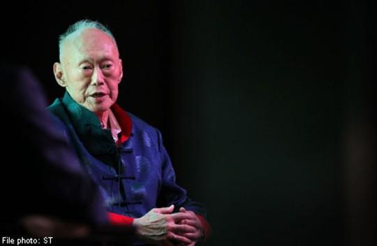 Cựu Thủ tướng Singapore Lý Quang Diệu đã bước qua tuổi 91. Ảnh: Straits Times