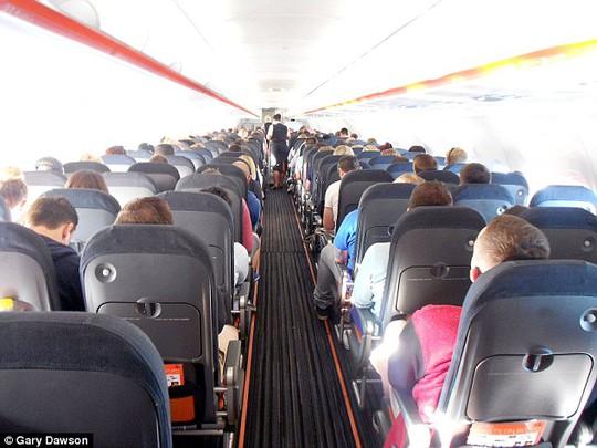 Vụ tấn công xảy ra trên máy bay hãng hàng không EasyJet (Anh). Ảnh: Daily Mail