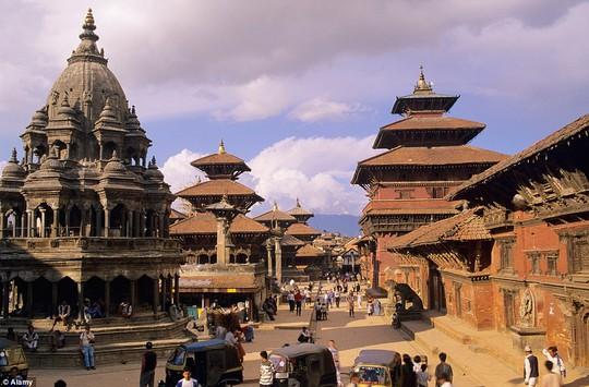 Quảng trường Patan Durbar, trung tâm lịch sử hoàng gia Nepal lớn thứ ba... Ảnh: Alamy