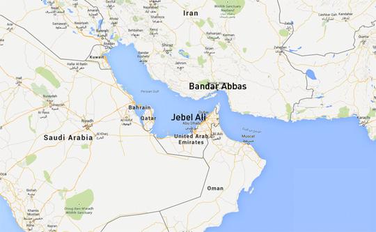 Tàu hàng bị bắt khi đang đến Jebel Ali. Nguồn: RT