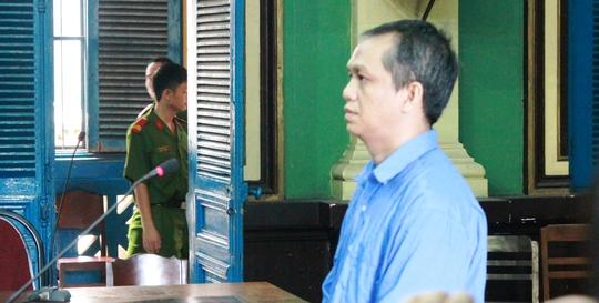Bị cáo Lê Trung Huy tại tòa