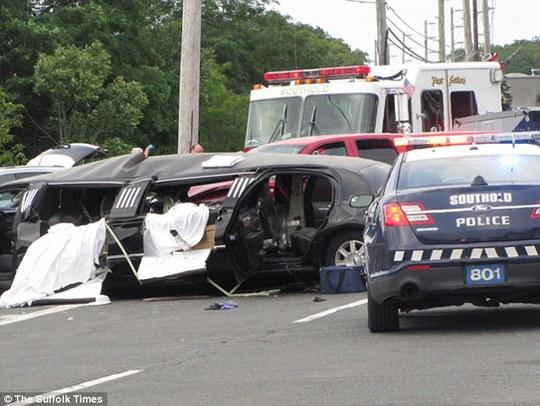 Hiện trường vụ tai nạn. Ảnh: Suffolk Times